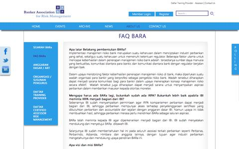 Screenshot of FAQ Page bara.or.id - Bankers Association for Risk Management Indonesia - captured Oct. 5, 2014