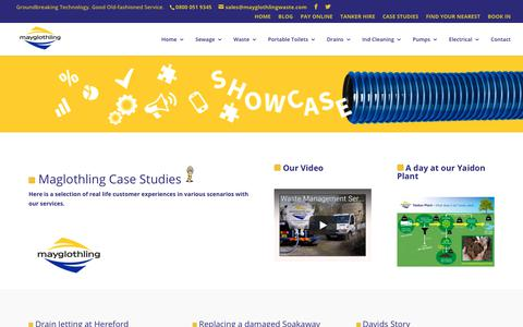 Screenshot of Case Studies Page mayglothlingwaste.com - Waste Management Interesting Facts & Figures At Mayglothling - captured Oct. 17, 2017