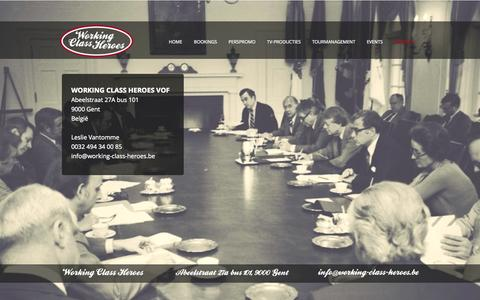 Screenshot of Home Page working-class-heroes.be - WORKING CLASS HEROES - captured Oct. 9, 2014