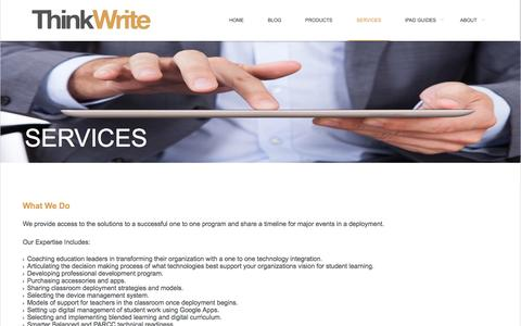 Screenshot of Services Page ithinkwrite.com - SERVICES | ThinkWrite - captured Oct. 7, 2014