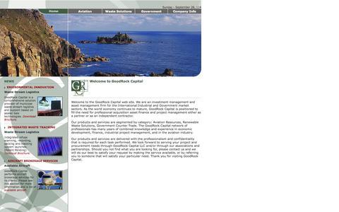 Screenshot of Home Page goodrockcapital.com - GOODROCK CAPITAL .: Welcome :. - captured Sept. 30, 2014