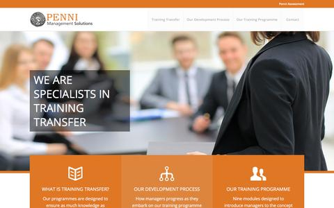 Screenshot of Home Page penni-management-solutions.com - Welcome - Penni Management Solutions - captured July 14, 2018