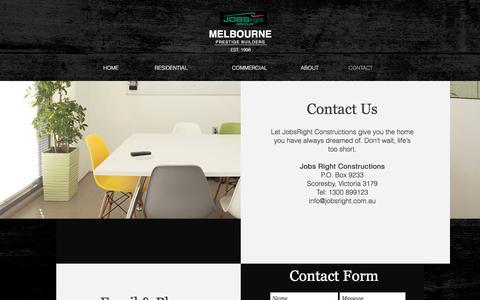 Screenshot of Contact Page jobsright.com.au - CONTACT - captured Oct. 16, 2017