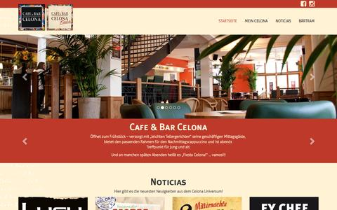 Screenshot of Home Page celona.com - Startseite - Cafe & Bar Celona - captured July 3, 2015