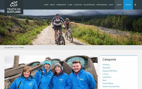 Screenshot of Press Page triathlonscotland.org - Triathlon Scotland - captured Feb. 25, 2016
