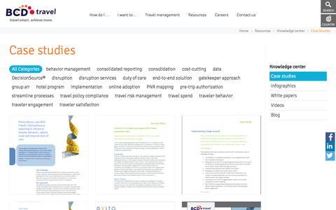 Screenshot of Case Studies Page bcdtravel.com - BCD Travel case Studies - captured Nov. 21, 2016