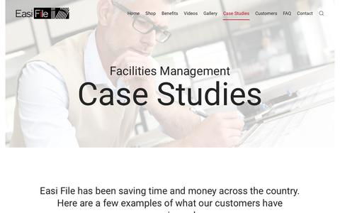 Screenshot of Case Studies Page easifile.com - Case Studies | Easi File - captured July 15, 2018