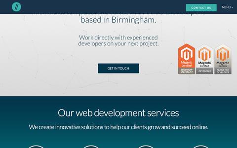 Screenshot of Home Page develodesign.co.uk - Birmingham Web Development Agency - Specialist Magento Developers - captured June 4, 2017