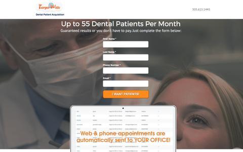 Screenshot of Landing Page targetwide.com - Target Wide - Advanced Dental Patient Aquisition - captured Feb. 17, 2017