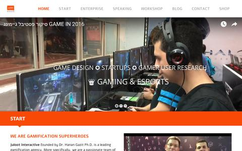 Screenshot of Home Page juloot.com - juloot interactive gamification | Boost our clients' success with gameful design. Start Play your Life™ - captured Sept. 20, 2018