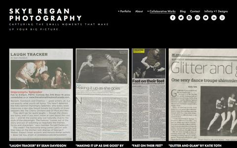 Screenshot of Press Page skyeregan.com - Press — Skye Regan Photography - captured Feb. 4, 2016