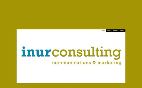 Screenshot of Home Page inur.com - inur consulting - home - captured Oct. 3, 2014