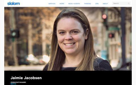 Screenshot of Team Page slalom.com - Jaimie Jacobsen | Slalom - captured Jan. 20, 2018