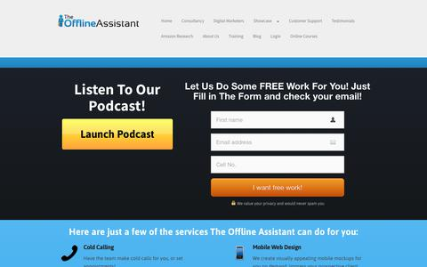 Screenshot of Home Page theofflineassistant.com - theofflineassistant.com - captured Oct. 20, 2018