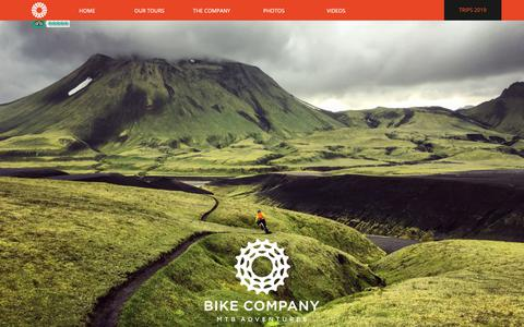 Screenshot of Home Page bikecompany.is - MTB ADVENTURES IN ICELAND - bikecompany.is - captured Nov. 13, 2018