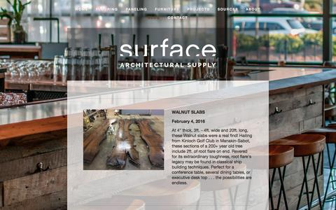 Screenshot of Blog surface-supply.com - Blog — Reclaimed Wood Flooring & Paneling | Surface Architectural Supply - captured Feb. 16, 2016