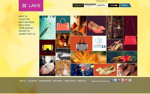 Screenshot of Home Page lavieaccessories.com - Designer Handbags for Women | Ladies Fashion Bags | Bag Suppliers | Leather Bags – LavieAccessories.com - captured Sept. 19, 2014