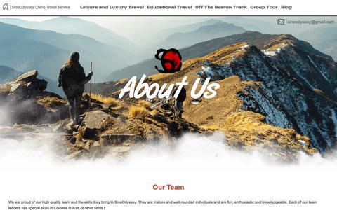 Screenshot of Team Page sinoodyssey.com - Our Team SinoOdyssey China Travel Service - captured Sept. 20, 2018