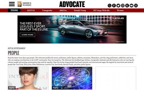 Screenshot of Team Page advocate.com - People | Advocate.com - captured Sept. 21, 2018