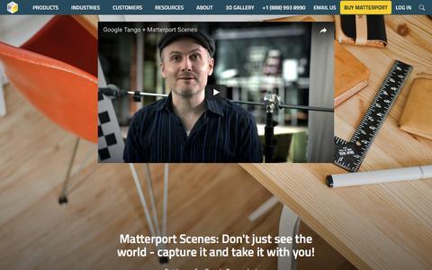 Mobile Capture with Matterport Scenes - Matterport