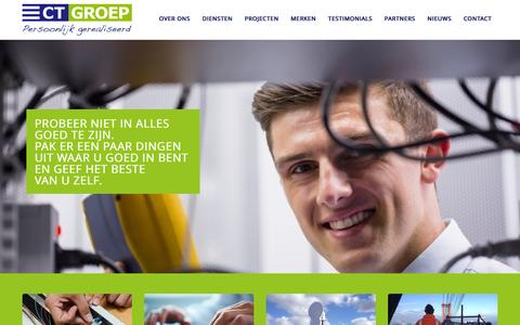 Screenshot of Home Page ct-groep.com - Home | CT Groep - captured Jan. 22, 2016
