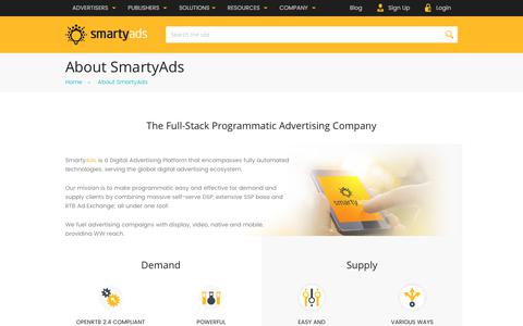 Screenshot of About Page smartyads.com - About SmartyAds LLP - captured May 31, 2017