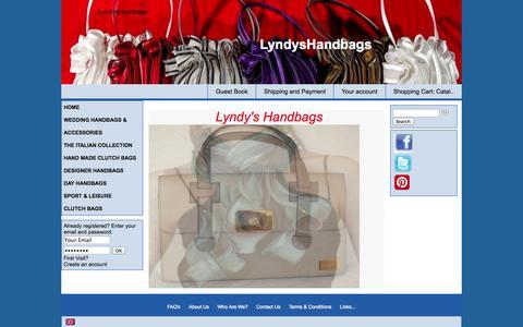 Screenshot of Home Page lyndyshandbags.com - SPECIAL OFFERS ON DESIGNER HANDBAGS - captured Sept. 30, 2014