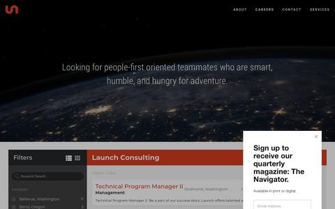 Screenshot of Jobs Page launchconsulting.com - Careers — Launch Consulting Group - captured March 16, 2019