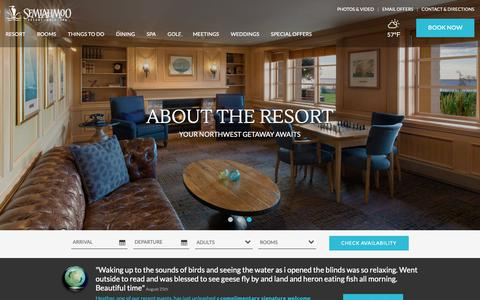 Screenshot of About Page semiahmoo.com - Best Resorts in Washington State | Washington State Resort | Semiahmoo - captured Oct. 10, 2018