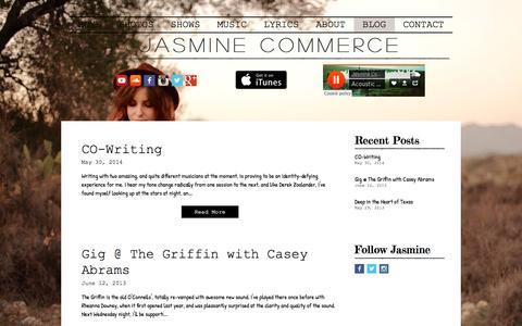 Screenshot of Blog jasminecommercemusic.com - Jasmine Commerce Music- Blog - captured Feb. 28, 2017