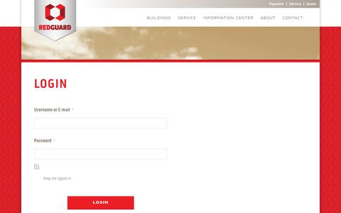 Screenshot of Login Page redguard.com - Login - RedGuard - captured June 10, 2017