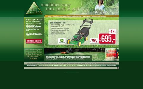 Screenshot of Home Page pro-garden.be - Bij ons kunt u terecht als liefhebber of professional voor een uitgebreid gamma van producten voor uw tuin. - captured Oct. 2, 2014