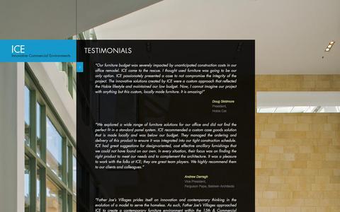 Screenshot of Testimonials Page icesd.com - Testimonials - ICE - San Diego, California - captured Oct. 6, 2014