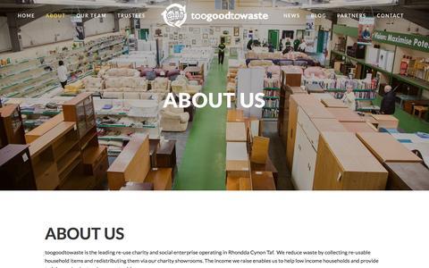 Screenshot of About Page toogoodtowaste.co.uk - About Us — toogoodtowaste - captured Dec. 19, 2016