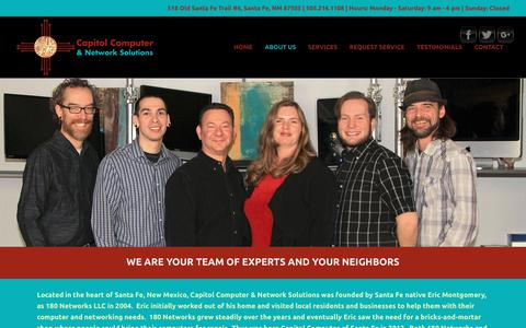 Screenshot of About Page ccandns.com - About Us – Capitol Computer & Network Solutions - captured April 15, 2016