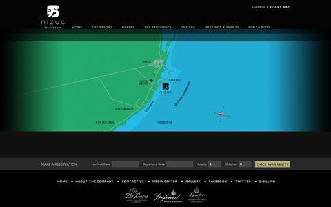 Screenshot of Maps & Directions Page nizuc.com - Map | Nizuc - captured Nov. 4, 2014