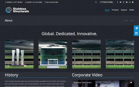 Screenshot of About Page stainless-structurals.com - Stainless steel manufacturer and supplier | Stainless Structurals - captured Dec. 3, 2016
