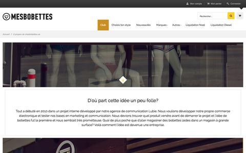 Screenshot of About Page mesbobettes.ca - � propos de mesbobettes.ca - captured Dec. 12, 2015