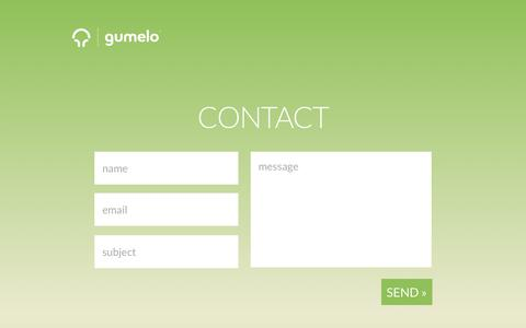 Screenshot of Contact Page gumelo.com - contact - captured Sept. 30, 2018