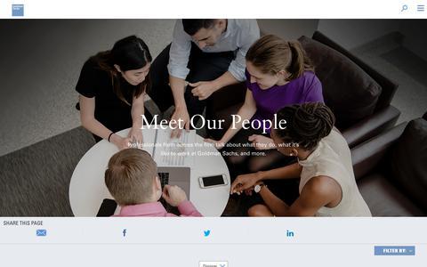 Screenshot of Team Page goldmansachs.com - Goldman Sachs   Our People - captured Feb. 8, 2019