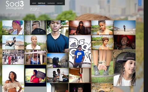 Screenshot of Team Page sod3photography.co.za - People | Sod3 Photography - captured Sept. 30, 2014