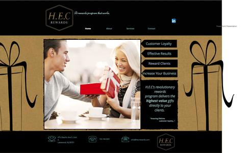 Screenshot of Home Page hecrewards.com - Loyalty Reward Program - captured Sept. 27, 2014