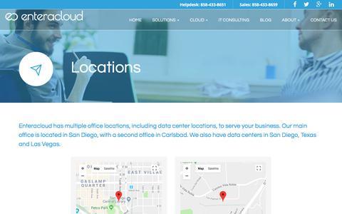 Screenshot of Locations Page enteracloud.com - Locations - Carlsbad, Oceanside, Encinitas | Enteracloud - captured July 19, 2018