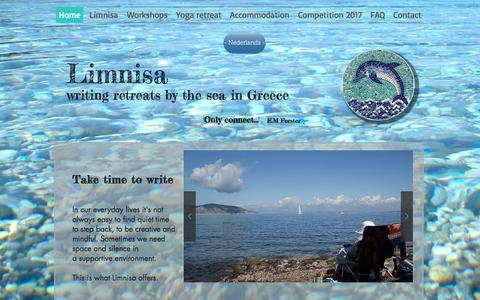 Screenshot of Home Page limnisa.com - writing-limnisa - captured Nov. 30, 2016