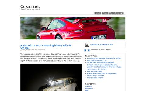 Screenshot of Home Page carsourcing.com - Carsourcing - captured Oct. 2, 2014