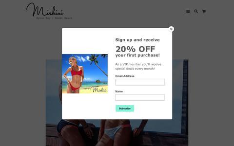 Screenshot of Contact Page miskini.com - Contact Miskini Swimwear - captured Jan. 14, 2018