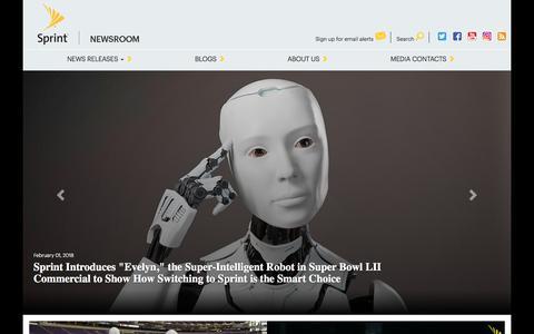 Screenshot of Press Page sprint.com - Sprint Newsroom | Sprint Newsroom - captured Feb. 10, 2018