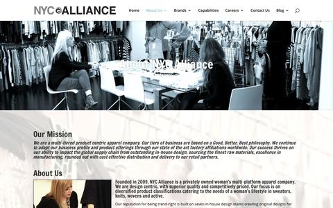 Screenshot of About Page nycalliance.com - About Us | NYC Alliance - captured Jan. 11, 2016