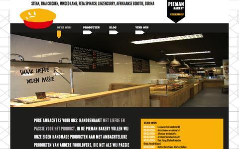 Screenshot of Home Page pieman.nl - Pieman Bakery | Pure ambacht | English Pie en (h)eerlijk food - captured July 3, 2015