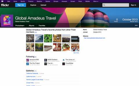 Screenshot of Flickr Page flickr.com - Flickr: Global Amadeus Travel - captured Oct. 27, 2014